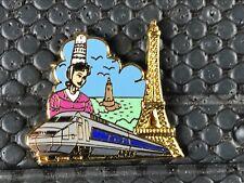 PINS PIN BADGE TRAIN TGV LOCOMOTIVE TOUR EIFFEL BRETAGNE SNCF BALLARD