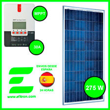 Kit Placa solar panel  275 Wp y regulador con pantalla MPPT de 30A. Carga a 12V