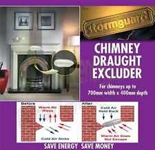 """Chimney Balloon Draught Excluder for up to 70cm x 40cm (27""""x15"""") Energy Saving"""