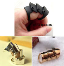 Men Punk Gothic Hinged Knuckle Ring Women Joint Knight Armor Hinged Finger