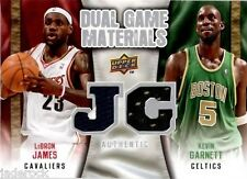 LeBron James Kevin Garnett 2009-10 Upper Deck Dual Game Materials Jersey Relic