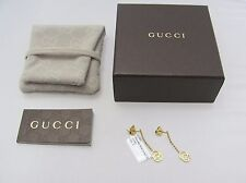 96ed6bb96fc New Authentic 18K Yellow Gold GG Gucci Drop Earrings YBD35631100100U COA Box