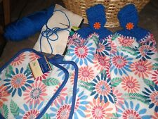 Crocheted Hanging Kitchen Dish/Hand Towels + 2 Matching Potholders