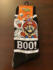Official Nintendo Halloween Boo Super Mario Crew Socks Ghosts  Brand New 2 Pairs