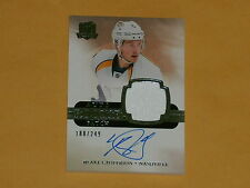 2011-12 The Cup Auto Rookie Patches Hockey Card # 127 Blake Geoffrion /249