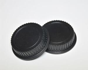COMPATABLE WITH CANON EOS REAR LENS CAP COVER SET OF 2 FITS ALL EF LENS GENERIC