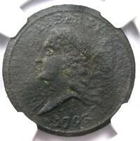 1793 Liberty Cap Flowing Hair Half Cent 1/2C - NGC XF Detail (EF) - Rare Coin!