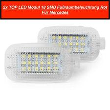 2x TOP LED Modul 18 SMD Fußraumbeleuchtung Für Mercedes Rot (201)