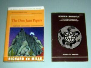 2 book Carlos Castaneda SORCERER Mexico CONTROVERSIES Psychedelic Knowledge Jung
