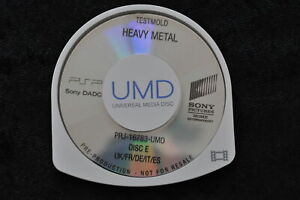 Heavy Metal UMD TESTMOLD Sony PSP