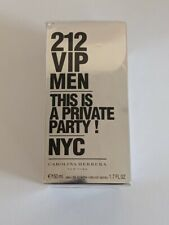 New Carolina Herrera 212 VIP Men This Is A Private Party! NYC EDT 1.7 oz / 50 ml