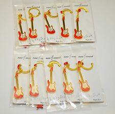 Red Guitar Keychain,  Nice Gift, 10pcs Pack,