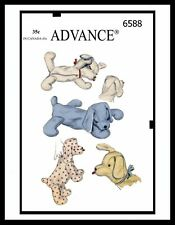 Advance 6588 Stuffed Animal Pattern Sleeping PUPPY Dog TOY GIRL BOY Child KIDS