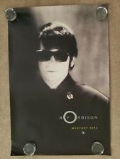 """1989 original Roy Orbison (1936-1988) poster """"Mystery Girl"""" 36"""" x 24"""" second"""