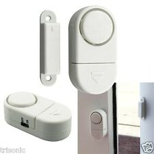 6 UNIT WIRELESS DOOR AND WINDOW ENTRY ALARM BATTERY INC NEW