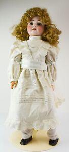 """25"""" Antique Gebruder Kuhnlenz Dolly Face Doll Mold 63  - NO RESERVE - AL3"""