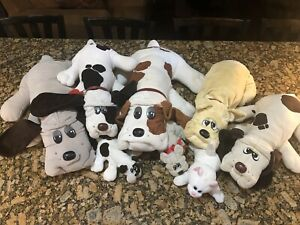 Vintage 1985 Tonka Pound Puppies Large Lot of 8 Plush Pups Stuffed Dogs