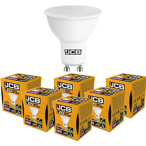 20x JCB LED GU10 3w =35w or 5w =50w 3000k (Warm) 6500k (Daylight) Spotlight Bulb