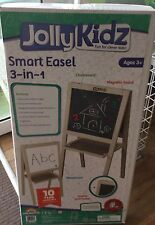 Jolly Kidz Smart Easel 3 in 1 Childrens Blackboard Magnetic Board Whiteboard
