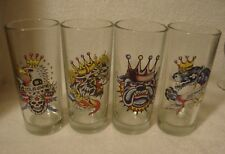 Ed Hardy 12oz Glasses set of 4