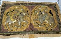 Indian Cavalry Handmade Beads Sequin Embroidery Wall Hanging Tapestry Decor BR20