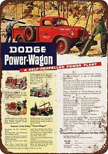 1946 Dodge Power-Wagon Vintage Look Reproduction Metal Sign 8 x 12 made in USA
