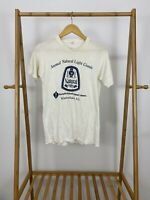 RARE 80s Annual Natural Light Classic Short Sleeve Thin T-Shirt Size M USA