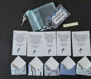 Tooth Fairy Letters x 5, Fairy Bag with Wand Charm & Mini Fairy Sized Envelopes