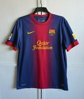 FC BARCELONA 2012/2013 HOME FOOTBALL SHIRT SOCCER JERSEY CAMISETA NIKE SIZE (L)