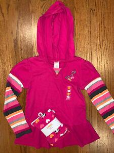 Gymboree NWT Sz 8/9 Panda Academy Pink Hoodie Top & Heart Leggings