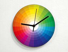 Color Samples Circle - CMYK RGB Pantone - Pattern Design - Wall Clock