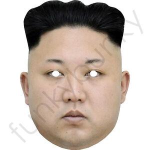 Kim Jong-un - Celebrity Fun Card Mask - All Our Masks Are Pre-Cut