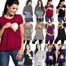 Women Pregnant Maternity Clothes Nursing Tops Ladies Breastfeeding T Shirt Lot