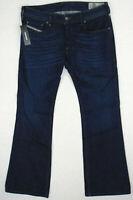 NEW DIESEL ZATHAN R845B Regular Bootcut W33 L30 Mens Blue Stretch Denim Jeans