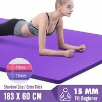 183*60*15mm Yoga Mat Non Slip Workout Pilates Fitness Exercise Meditation Pad