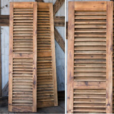 Awesome Pair of 6 FOOT Wood Shutters Reclaimed Wood Farmhouse Vintage Window