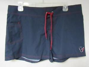 Houston Texans Womens Large or X-Large Embroidered Swim Shorts Swimsuit C1 230
