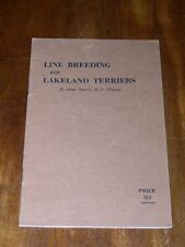 VERY RARE LAKELAND TERRIER DOG BOOK BY MORRIS 1ST 1946 RAREST BOOK ON THE BREED