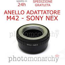 Anello adattatore OBIETTIVO ottiche M42 a vite su SONY NEX SONY ALPHA E-MOUNT