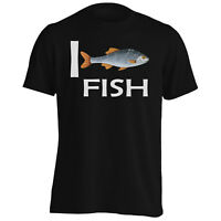 I love Fish Novelty Funny Men's T-Shirt/Tank Top gg72m