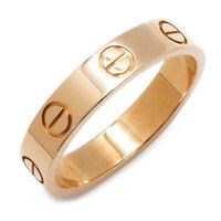 Cartier Auth Au750 K18PG Mini Love Ring EU 49 US 4.75 Used with Box from Japan