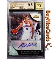 2007-08 Russell Westbrook Topps Finest Xfractor Refractor XRC RC Rookie Auto /10