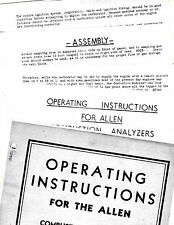 ALLEN COMBUSTION ANALYZERS MODELS G32-34-40-41-46 OPERATING INSTRUCTIONS RE 3