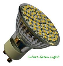 GU10 60 SMD LED 240V 4.5W DIMMABLE 300LM WARM WHITE BULB ~50W