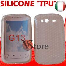Cover Custodia Gel TPU TRASPARENTE + Pellicola LCD Per HTC WILDFIRE S G13