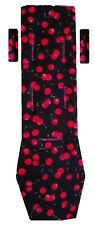 PRAM LINER to fit Baby Jogger City Mini GT -  Ripe cherries on black