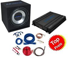 CRUNCH CAR HIFI ANLAGE Bass Paket 4-Kanal Verstärker Basskiste Kabelset 1000Watt