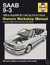 4614 Haynes Manual Saab 9-3 Petrol & Diesel 1998 to 02 H4614