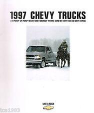 1997 CHEVY TRUCK Brochure /Catalog:C/K PickUp,TAHOE,S-10,BLAZER,VAN,SUBURBAN,4WD