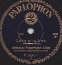 Emanuel Feuermann Cello spielt Ave Maria + Caro mio ben ( Tommasie Giordani )